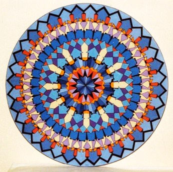 313 - Circle with 48 crosspatterns  [60x60]